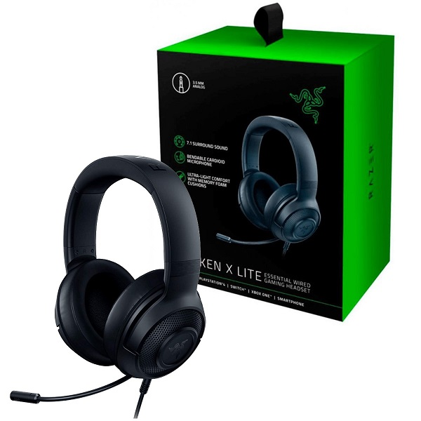 AUDIFONOS RAZER KRAKEN X LITE 7.1 Virtual Surround Sound Gaming