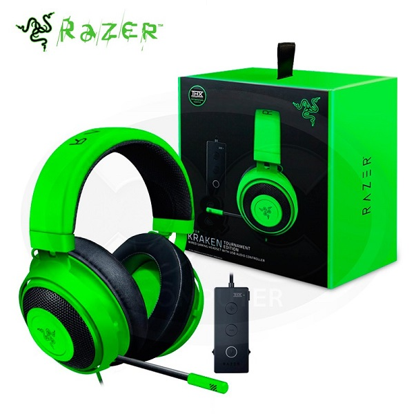 AUDIFONO GAMING RAZER KRAKEN TOURNAMENT EDITION THX WIRED GREEN