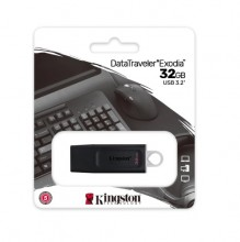 MEMORIA FLASH USB KINGSTON DATATRAVELER EXODIA 32GB, USB 3.2